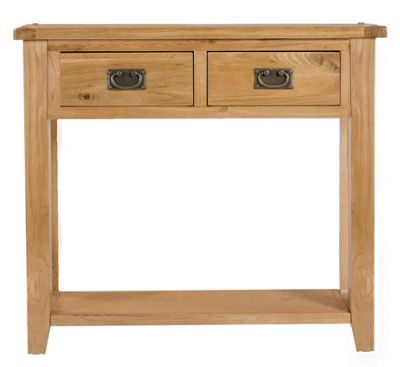 Elements Brunswick Dining Two Drawer Console Table in Warm Lacquer