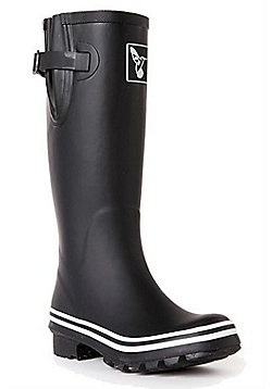 Evercreatures Ladies Rubber Wellies Palette Collection Mat in Black Size 5 (UK)