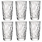 Bormioli Rocco Diamond Dimpled Clear Cooler Glasses - 470ml - Pack of 6