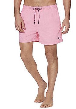 F&F Palm Patch Swim Trunks - Pink
