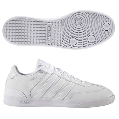 adidas Neo Mens Cross Court Leather Tennis Shoes / Trainers - 11