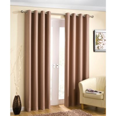 Enhanced Living Wetherby Natural Eyelet Curtains - 66x90 Inches (168x229cm)