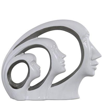 Sculpt Trio Faces Sculpture