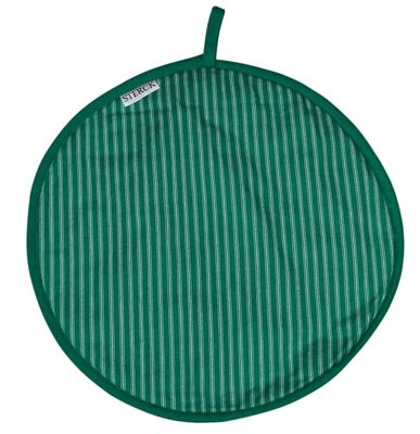 Sterck Round Striped Cook Pad Hob Cover in Green