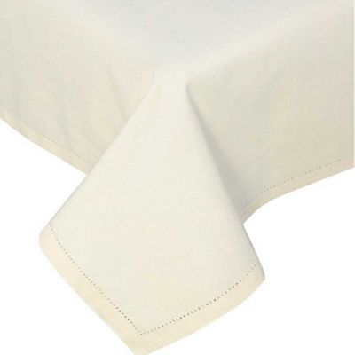 Homescapes Plain Cotton Cream Tablecloth, 70 Inches Round