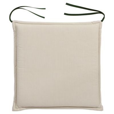 Tesco Cushion Seat Pad 2pk, Green/Cream