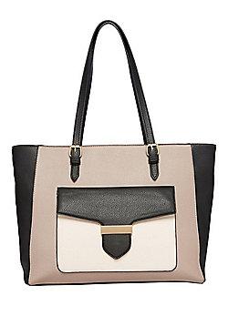 F&F Colour Block Tote Bag
