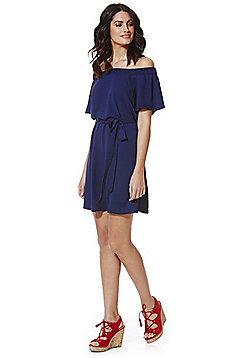 F&F Bardot Dress - Navy