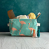 Aqua Flamingo Storage Tub