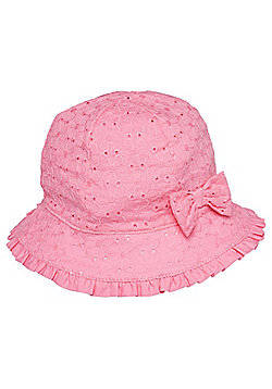 F&F Broderie Anglaise Fisherman Hat - Pink