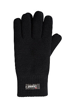 Mountain Warehouse Thinsulate Mens Knitted Gloves - Black