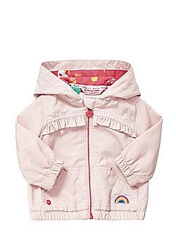 F&F Frill Trim Shower Resistant Hooded Jacket - Pink