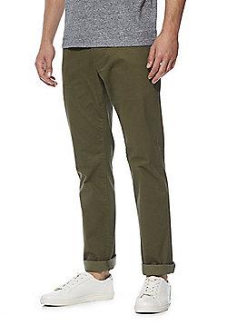 F&F 5 Pocket Sateen Stretch Straight Leg Trousers - Khaki