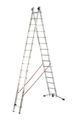 Hailo 838cm Profilot 2-Section Aluminium Multi-Purpose Ladder