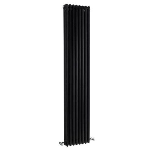 Ultra Colosseum 3-Column Vertical Radiator, 1800mm High x 381mm Wide, High Gloss Black