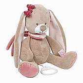 Nattou Nina, Jade & Lili- Musical Nina The Rabbit soft toy