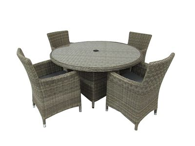Royalcraft Wentworth 5pc Round Carver Garden Dining Set