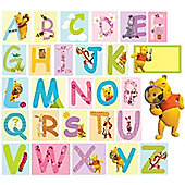 Winnie The Pooh Large Stickers - Alphabet