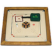 Championship Carrom Set - Carrom Board 16mm thick, Wooden Coins, Acrylic Striker & Carrom Powder - weighs 18kg