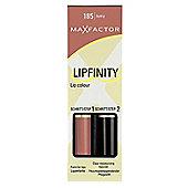 Max Factor Lipfinity Colour Lipstick / Lip Gloss - Sultry 185