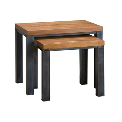 Ashton Industrial Oak Nest of 2 Tables