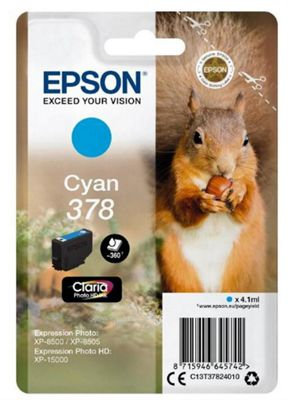 Epson 378 4.1ml 360pages Cyan ink cartridge 360 pages