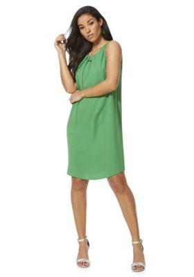 F&F Bar Trim Shift Summer Dress Green 6
