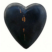 Painted Wooden Heart Antique Black
