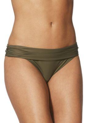 F&F Shaping Swimwear Foldover Bikini Briefs Khaki 20