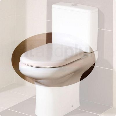 RAK Compact Wrap Over Plastic Toilet Seat with Soft Close Hinge