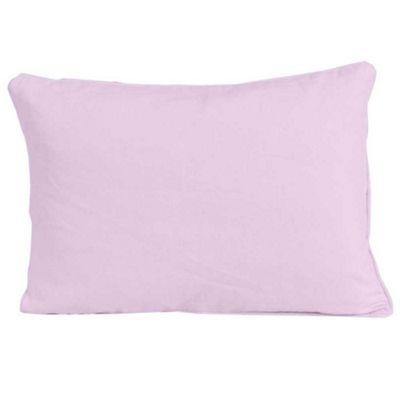 Homescapes Cotton Plain Mauve Cushion Cover, 30 x 50 cm
