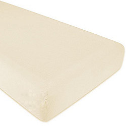 Purflo Fitted Organic Cotton Cot Sheet 120x60 Cream