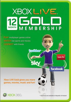 X360 Live 12 Month Gold Card