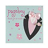 Fashionista Page Boy Wedding Thank You Card