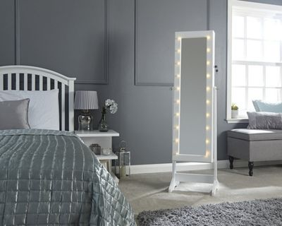 Amore Led Jewellery Armoire Mirror Grey