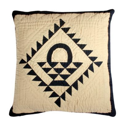 Woven Magic Country Basket Navy Tea Dyed Cushion