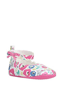 F&F Floral Print Scalloped Edge Shoes - Multi