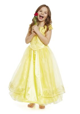 Disney Beauty and the Beast Belle Dress-Up Costume 5-6 yrs Yellow