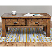 Baumhaus Heyford CRS08D Rough Sawn Oak Four Drawer Coffee Table