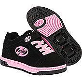 Heelys Dual Up Black/Pink Kids Heely X2 Shoe