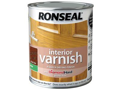 Ronseal Interior Varnish Quick Dry Matt Dark Oak 750ml