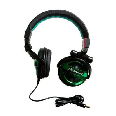 Pioneer SE-MJ551-G Headphone - Black/Green
