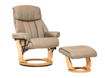 Sofa Collection Canneto Swivel Chair And Footstool - Beige