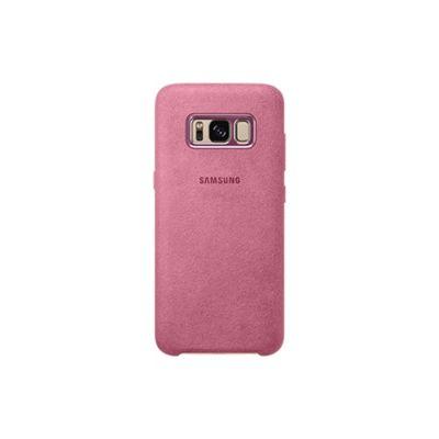 Samsung Galaxy S8 Alcantara Back Cover Pink