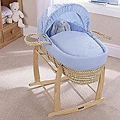 Clair de Lune Palm Moses Basket (Starburst Blue)