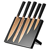 Viners 6 Piece Magnetic Knife Block Set with Titanium Coated Blades 305.141