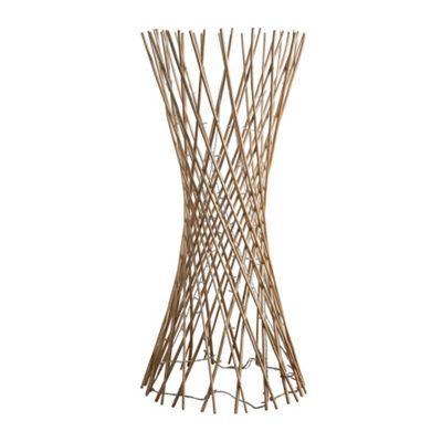 Buy 110cm lattice twisted wood floor lamp cream 80 warm white 110cm lattice twisted wood floor lamp cream 80 warm white leds aloadofball Image collections