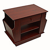 Companion - Storage Side / End Table With Magazine Rack - Large - Mahogany