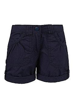 Shore Kids 100% Cotton Walking Hiking Lightweight Shorts - Girls - Blue