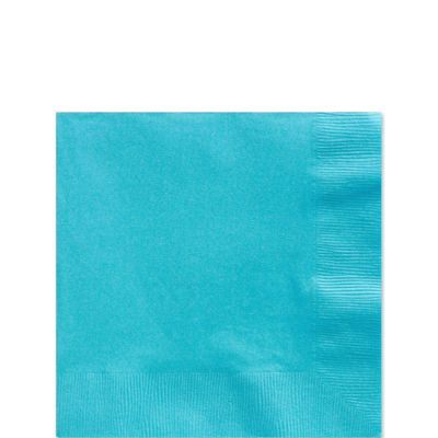Turquoise Beverage Napkins - 2ply Paper - 100 Pack